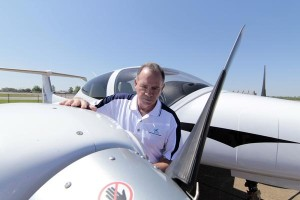 Al Mullen, CEO of CTI Professional Flight Training, checks out the new fleet at the Millington satellite, near Memphis, Tennessee