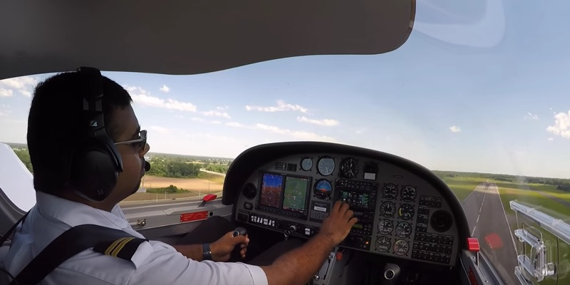 A typical day of flight training